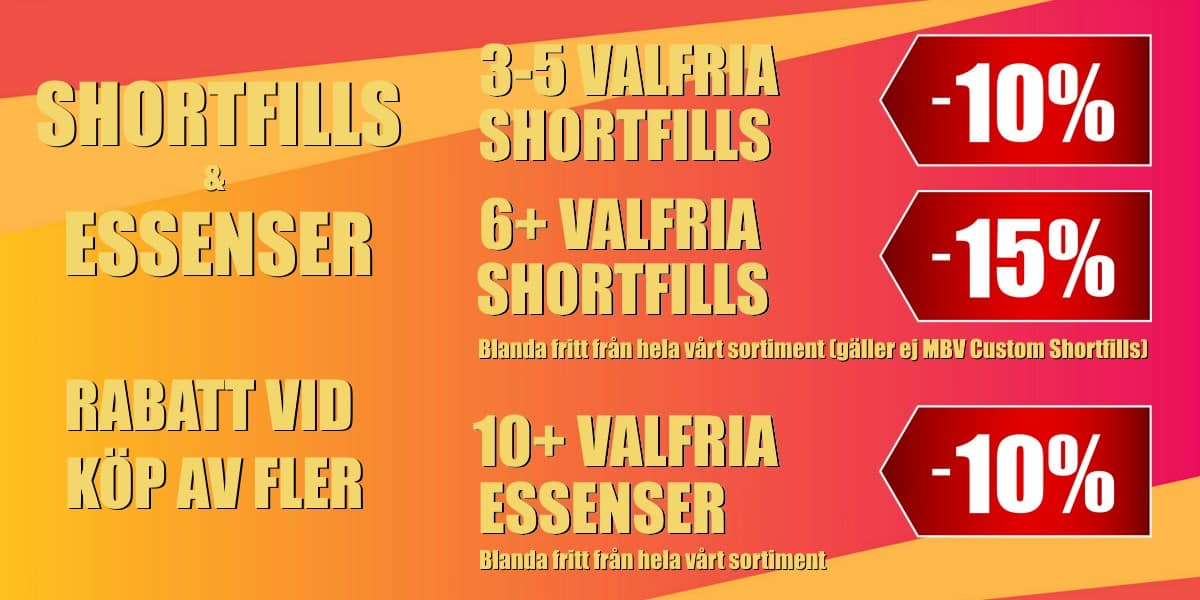 Shortfills & Essenser Rabetter Banner