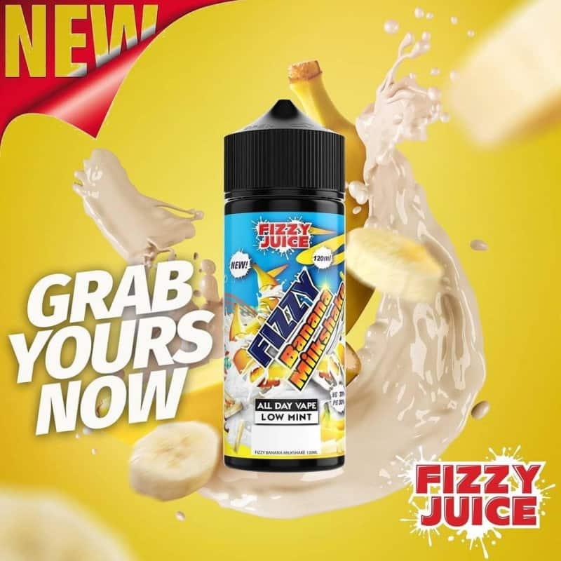 Banana Milkshake Fizzy Shortfill 100ml