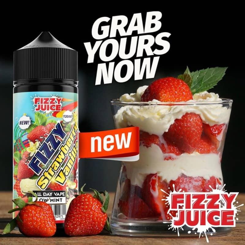 Strawberry Vanilla Fizzy Shortfill 100ml