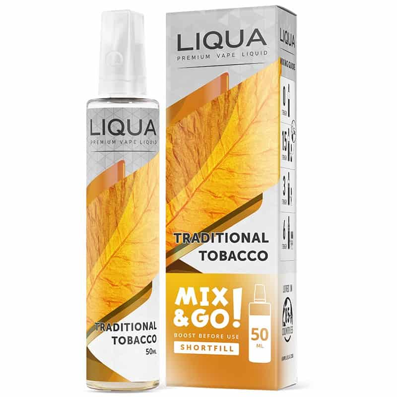 Traditional Tobacco Liqua Mix&GO Shortfill