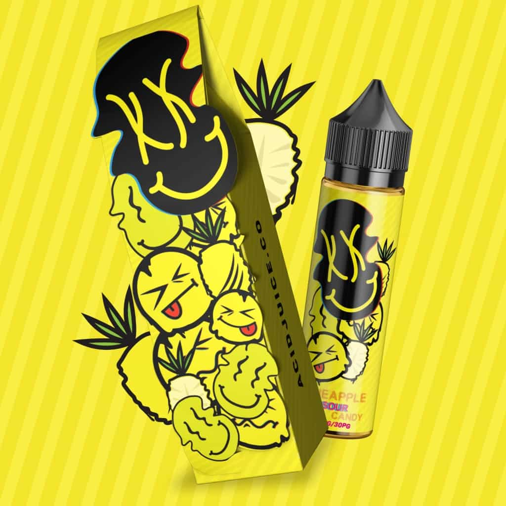 Pineapple Sour Candy Acid Juice Shortfill 50ml