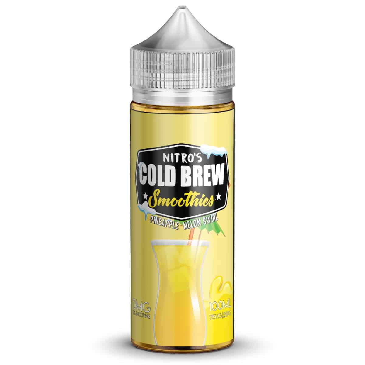 Pineapple Melon Swirl Nitros Cold Brew Smoothies Shortfill 100ml