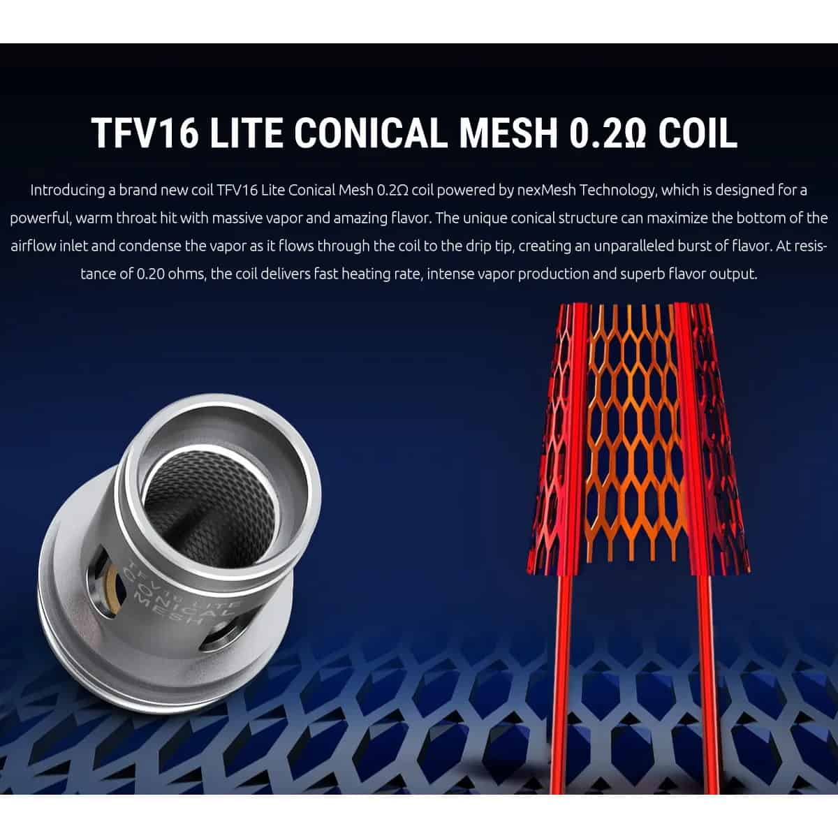 Smok Tfv16 Lite Conical Mesh Coil