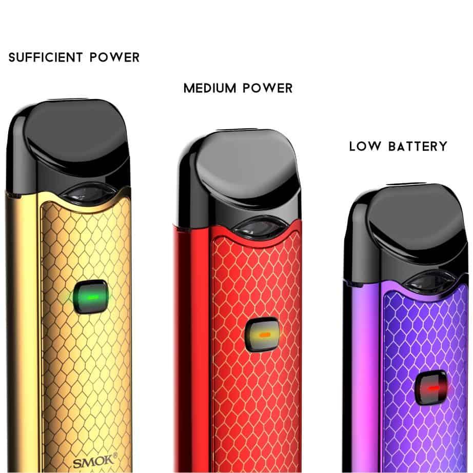 Smok Nord Kit Battery Life Indicator
