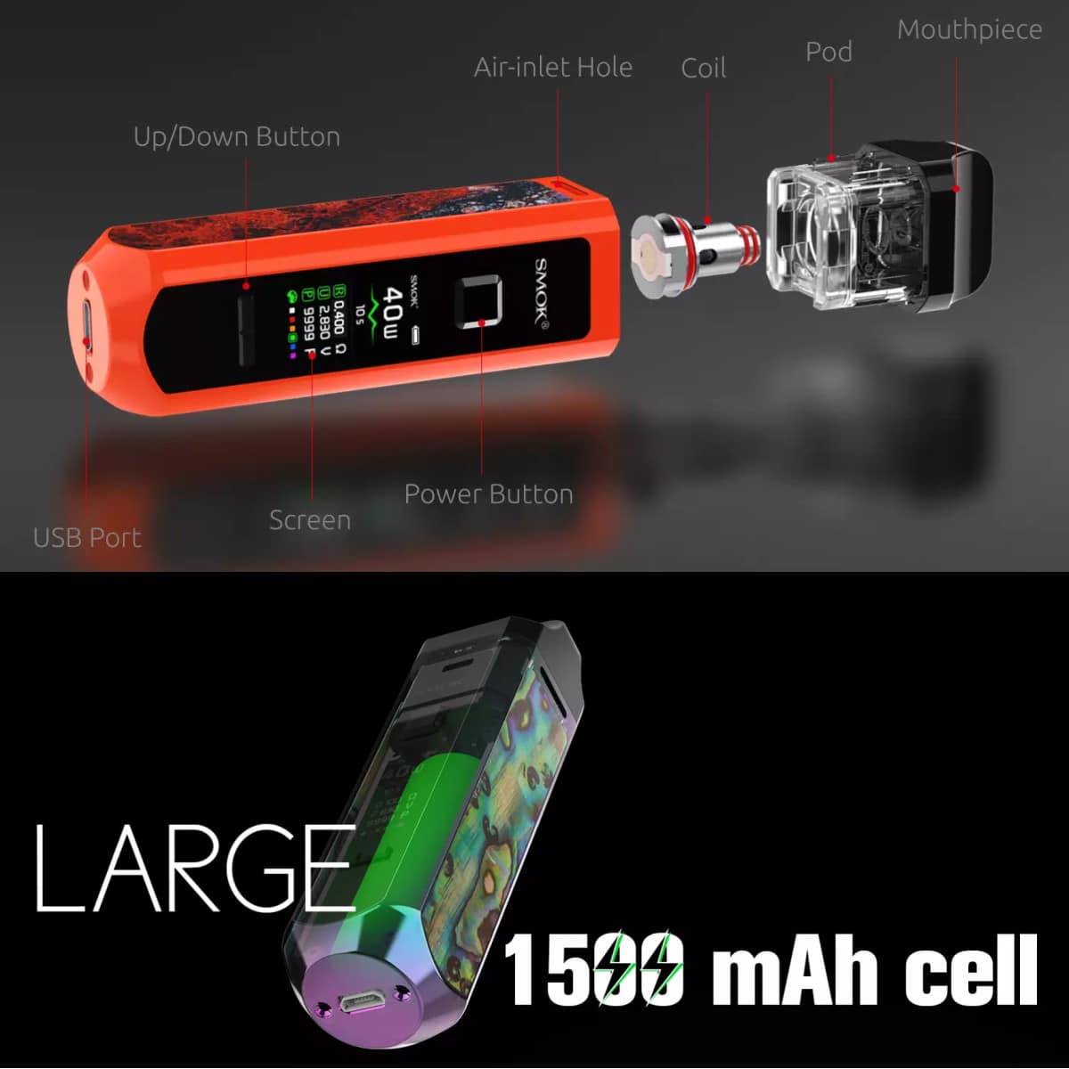 Smok Rpm40 1500mah Battery