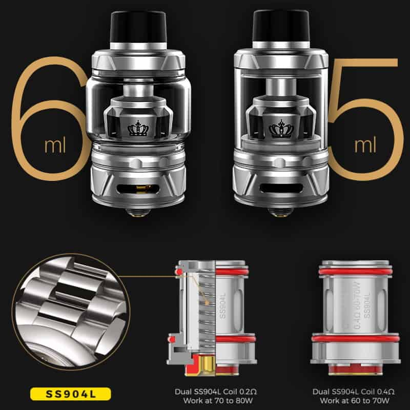 Uwell Crown 4 Coils Ss904l