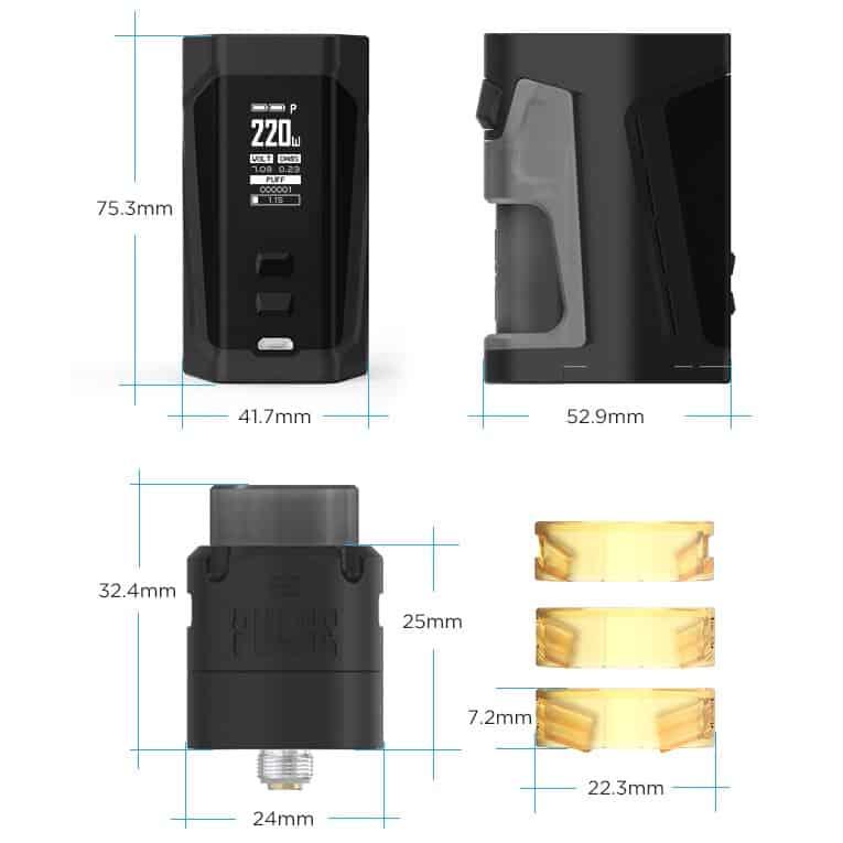 Vandy Vape Pulse Dual Kit Dimensions