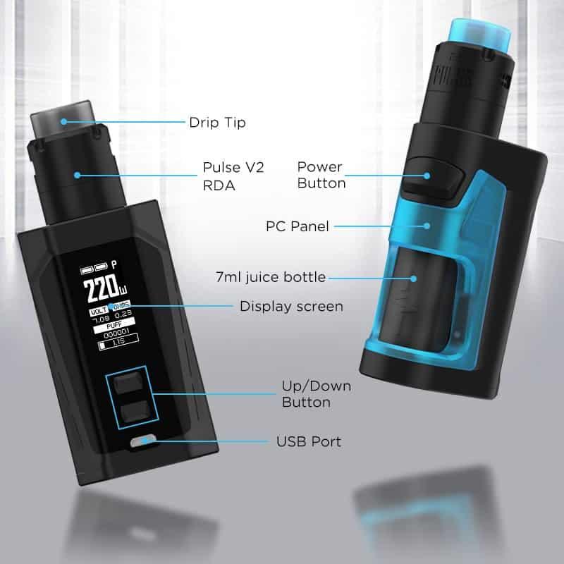 Vandy Vape Pulse Dual Kit Features