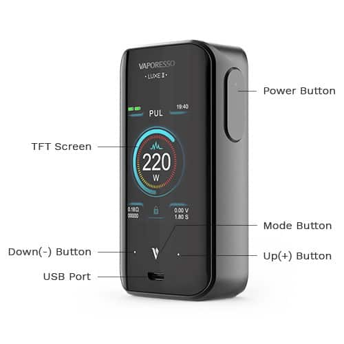 Vaporesso Luxe 2 Mod Features