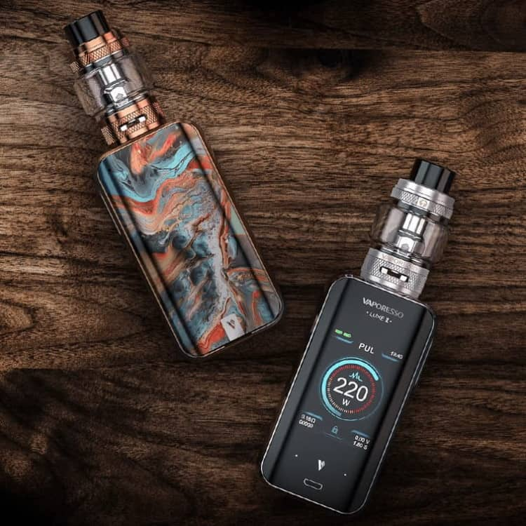 Vaporesso Luxe 2 Wood Background