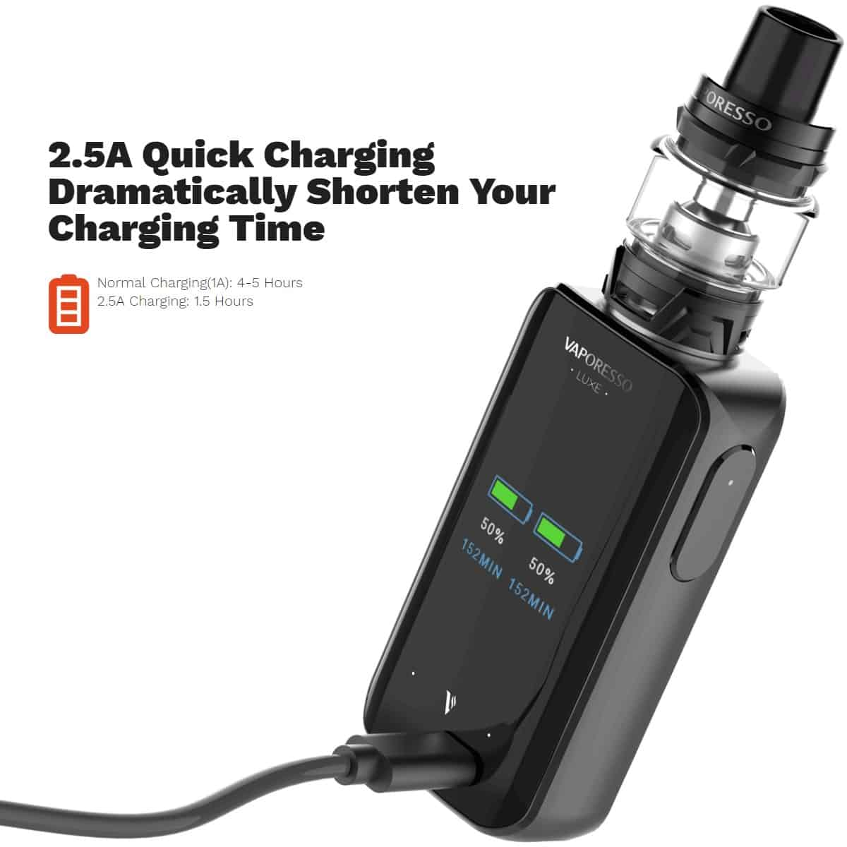 Vaporesso Luxe Kit Quick Charging